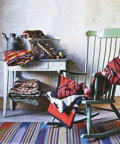 From Germany's Schoner Wonen magazine. Pendleton blankets and Pendleton woolen fabrics from our Woolen Mill store.