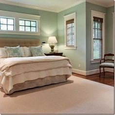 Welcoming guest bedroom paint colors Decorative Bedroom.... Love the windows over the bed