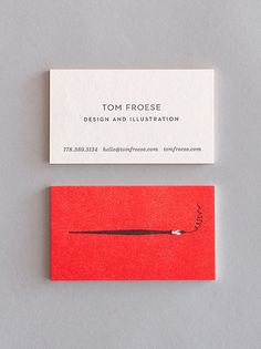 Tom Froese's Illustrated Personal Stationery Design. The Vancouver, Canade based graphic designer and illustrator has created this personal stationery incl