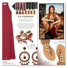 """""""Shoulder Show: Halter Dresses"""" by milica1940 ❤ liked on Polyvore featuring MANGO, GUESS and halterdresses"""