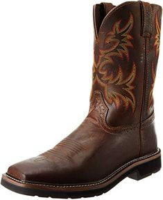 online shopping for Justin Original Work Boots Men's Stampede Pull-On Square Toe Work Boot from top store. See new offer for Justin Original Work Boots Men's Stampede Pull-On Square Toe Work Boot Western Boots, Cowboy Boots, Adidas Men, Nike Men, Fashionable Snow Boots, Square Toe Boots, Comfortable Boots, Justin Boots, Stitching Leather