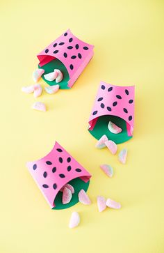 Watermelon treat boxes - cute for party favors