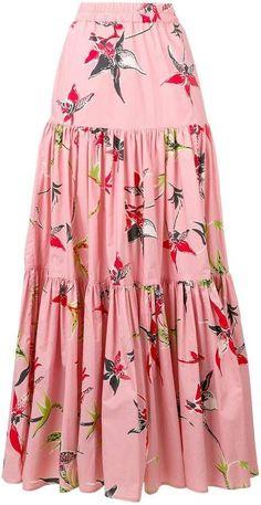 La Doublej long printed skirt skirt skirt skirt skirt outfit skirt for teens midi skirt Midi Rock Outfit, Midi Skirt Outfit, Skirt Outfits, Dress Skirt, Modest Outfits, Swag Dress, Summer Outfits, Dress Shoes, Midi Dress With Sleeves