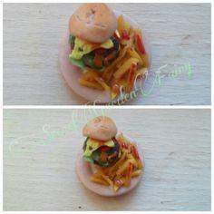 Panino e patatine miniature