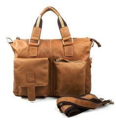 # New Retro Oil Wax Genuine Leather Men Shoulder Messenger Bags Briefcase Travel 14 inch Laptop Notebook Business Bag Sierra Leone, Ghana, Sri Lanka, Handbags For Men, Leather Handbags, Leather Bags, Seychelles, Taiwan, Nepal