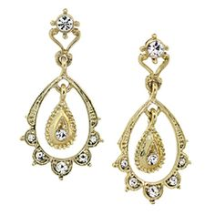 Downton Abbey® Gold Epoch Scallop Earrings