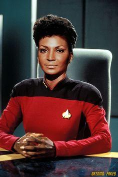 Captain Uhura Star Trek Nichelle Nichols by gazomg on DeviantArt Nichelle Nichols, Star Trek Tv, Star Wars, Star Trek Ships, Star Trek Enterprise, Science Fiction, Deep Space Nine, Akira, Star Trek Original Series