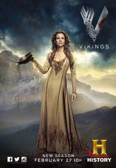 "Siggy played by Jessalyn Gilsig on the History Channel, ""Vikings"""