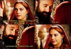 Sultan Suleyman tells Hurrem I love you, don't care about anyone else. Muhtesem Yuzyil (Magnificent Century