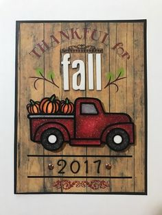 Thankful for Fall card by Amanda Reichard for Krazy Kreations