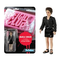 """Fight Club Marla Singer ReAction 3 3/4-Inch Retro Action Figure. """"It's cheaper than a movie, and there's free coffee."""""""