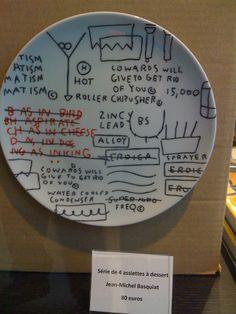 Basquiat dessert plates