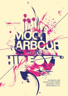 Moonharbour VS Hideout party in Miami by Luca Masini, via Behance