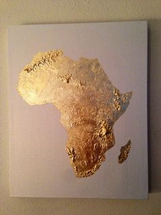 Gold Leaf map of Africa Africa map Africa love by 10kiaatstreet