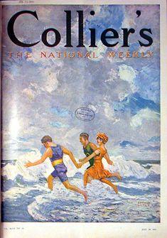 """Collier's"" magazine - July 29, 1911 - Cover art by Arthur Litle"