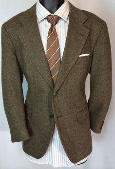 men's 40S tweed wool blazer | richly patterned sport coat | free tie in Blazers & Sport Coats | eBay