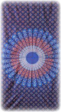 Sanganeer Burst - Blue - Tapestry