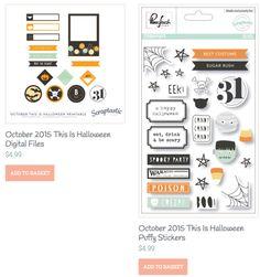 Flair & Labels OCTOBER 2015 - THIS IS HALLOWEEN Scrapbook Kit - ScraptasticClub.com