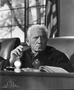 © 1962 Metro-Goldwyn-Mayer Studios Inc. All Rights Reserved.  Titles: Judgment at Nuremberg  Names: Spencer Tracy  Still of Spencer Tracy in Judgment at Nuremberg