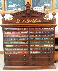 Antique thread cabinet - good story......
