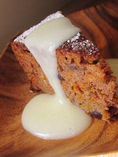Chef Tess Bakeresse: Cranberry Carrot Cake With Lemon Cream Sauce