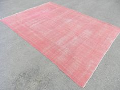 Faded Pink Color Over dyed Rug Turkish Rug 7'6 x by SILKROADRUGS