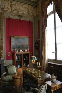 Red room | Musee Nissim de Comando, Paris, France