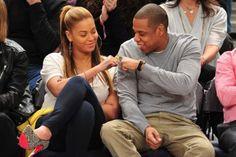 Beyoncé vai ao Jogo da NBA com Jay-Z ~ Rolling Soul