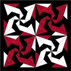 Bats In The Belfry Paper Piece Block PDF Pattern by