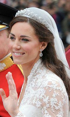 Diez tendencias 'beauty' para novias 'royal' - Foto 7 La melena suelta en ondas de la Duquesa de Cambridge.