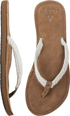 Macrame suede sandal by Reef @SWELL Style Style http://www.swell.com/Womens-View-All-Footwear/REEF-GYPSY-MACRAME-SANDAL?cs=RC