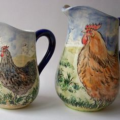 Hen Jugs, by David  Louise Salisbury