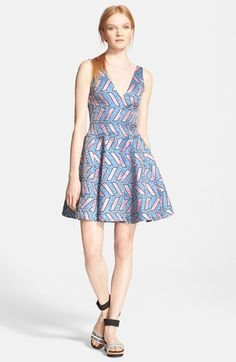 Opening Ceremony 'Pools' Print Fit & Flare Dress