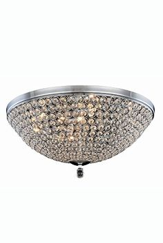 Elegant Lighting 2106F21CRC Brida Collection Flush Mount D217 H96 9Light Clear <3 Details on product can be viewed by clicking the VISIT button