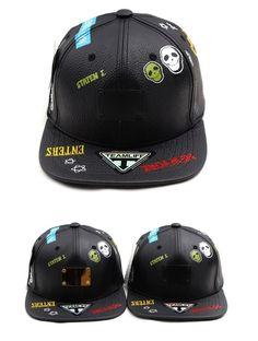 Skull Metal plate leather Snapback Hiphop baseball cap hiphop snapback hat #Hoony #snapback