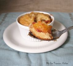 A recipe for peach cobbler made with fresh peaches that serves two people. A fast and easy dessert for any night of the week.