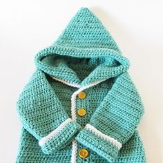 """Original pinner said, """"Make this cute baby hooded cardigan! FREE! just stunning, thanks so for guide xox (had to go through several links but then got the pdf instructions. Looking forward to making this)"""" #free #pattern #crochet"""