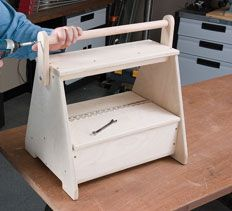 Woodworking Plans & Projects - Tool-Toting Sawhorse