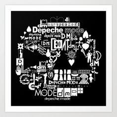 Depeche Mode : DM Logo 2013 - With old logo 2 - White Art Print by Luc Lambert - $15.08