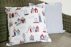 Beach / Nautical Cushion Cover  16 by BlossomvioletCrafts on Etsy