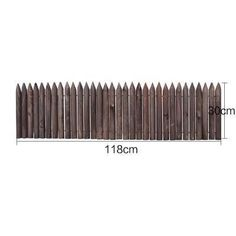 Picket - Wooden Pile Flowerbed Fence – Warmly Wood Edging, Flower Beds, Garden Tools, Fence, Yard Tools, Garden Beds, Flowers Garden
