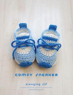 "Comfy PreemieSneakers Crochet Pattern Kittying Crochet Pattern by kittying.com from mulu.us  This pattern is designed in preemie size OR 18"" Doll (American Girl) size."