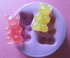 Gummy Bear Mold Candy Silicone Mold Fondant Clay by WhysperFairy make your own gummy bears with this mold! Resin Molds, Silicone Molds, Piercings, Scented Wax Melts, Resin Charms, Fondant Molds, Clay Miniatures, Gummy Bears, Polymer Clay Crafts