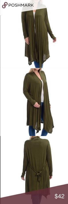 Plus size rayon duster I  love dusters. This lovely one is 94% rayon and 4% spandex sous just skims over your clothes and flows  Is wonderful as you dress up or dress down Sweaters Cardigans