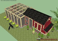 A little to big for my yard but a variation might b… Backyard Chicken Coop Plans. A little to big for my yard but a variation might be good