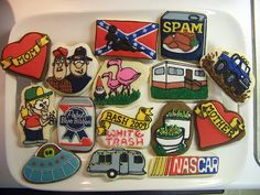 Love this - redneck cookies! Redneck Party, Redneck Gifts, Trailer Trash Party, White Trash Party, Nye Party, Party Themes, Party Ideas, Birthday Bash, Good Buddy