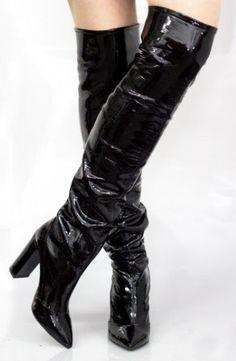 Da Donna Stiletto Tacco Alto Ginocchio-Alto Marrone Tall Zip Scarpe Stivali Plateau UK 3-8