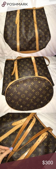 Authentic Louis Vuitton bag Authentic Louis Vuitton. Outside monogrammed material in great condition. Straps in good condition. The interior has seen better days. Some areas are sticky and worn but can be fixed by cleaning it properly. This bag was my moms and she passed it down to me. If it doesn't sell I'll keep it Louis Vuitton Bags Totes