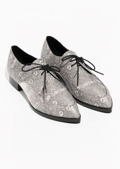 & Other Stories | Snakeskin Leather Shoes