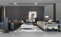 grey white and taupe colour palette | living room | marc gerritsen